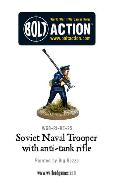 Soviet Naval Trooper with Anti-Tank Rifle