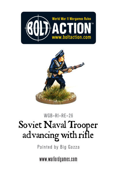 Soviet Naval Trooper Advancing with Rifle