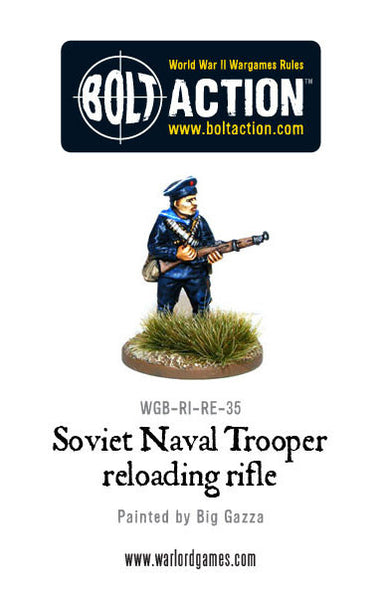Soviet Naval Trooper Reloading Rifle