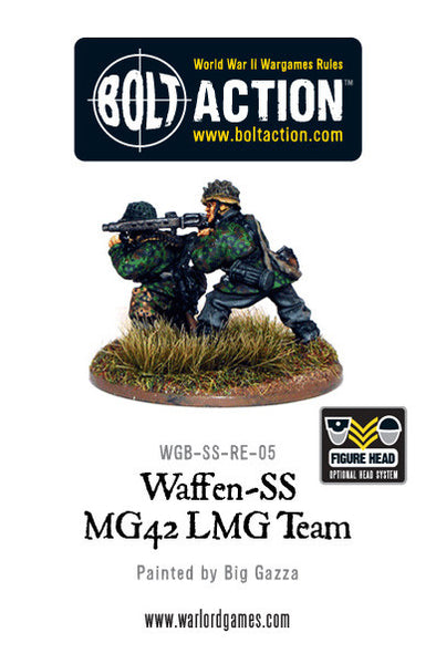 Waffen-SS, 2 man MG42, LMG Team Firing