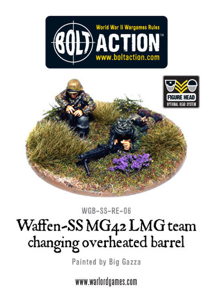 Waffen-SS 2 man MG42 LMG Team Changing Barrel
