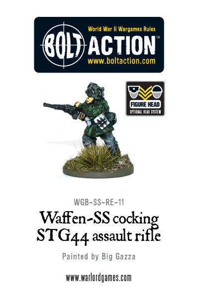 Waffen-SS Cocking STG44 Assault Rifle