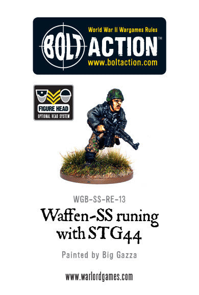 Waffen-SS Running with STG44 Assault Rifle