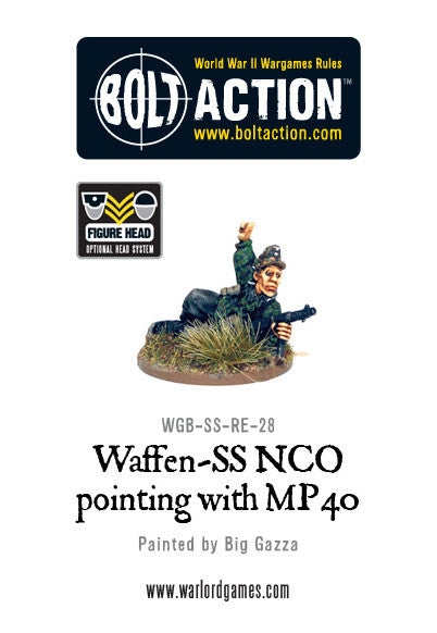 Waffen-SS NCO with MP40 Prone