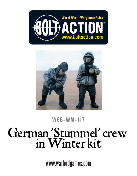 German 'Stummel' crew in Winter kit