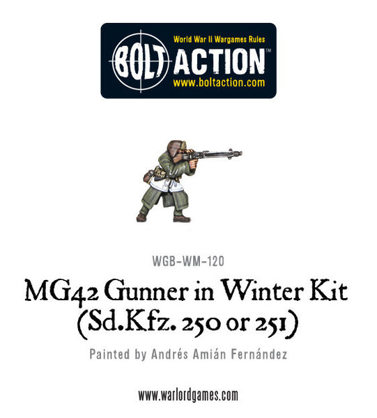 MG42 Gunner in Winter kit (Sd.Kfz 250 or 251)