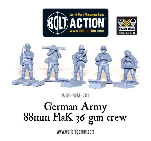 German 88mm Flak 36 gun crew