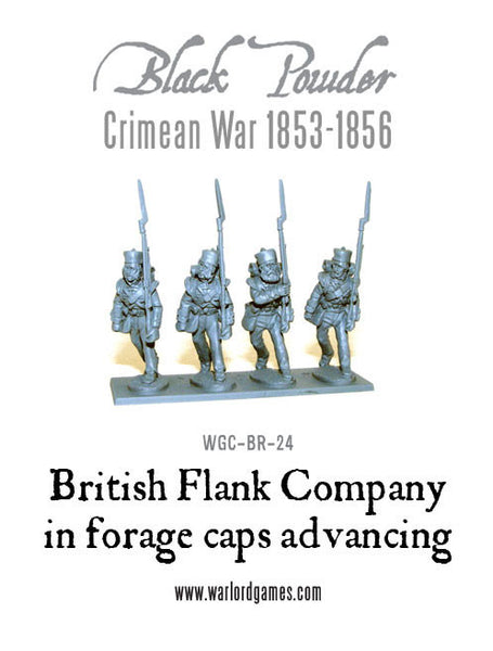 Crimean War: British Flank Company in Forage Caps advancing 1853-1856