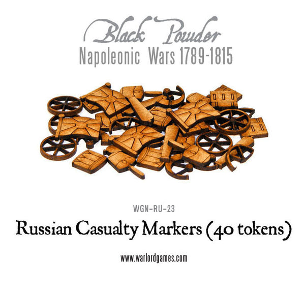 Napoleonic Wars: Russian Casualty Markers 1789-1815