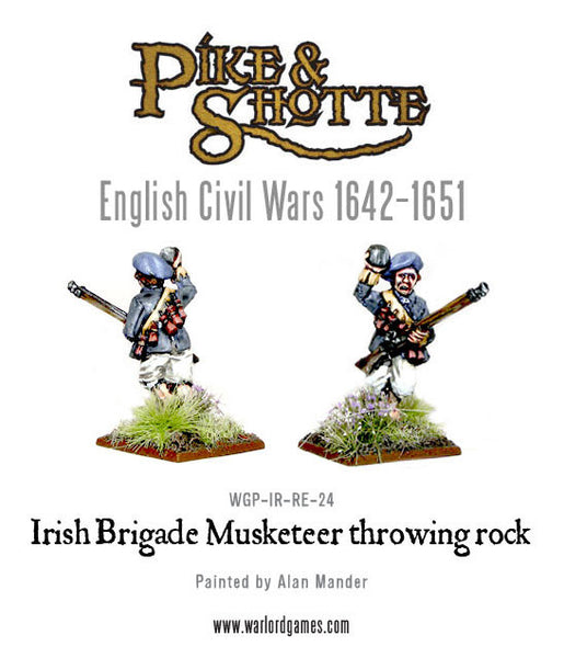 Irish Brigade Musketeer Throwing Rock 1
