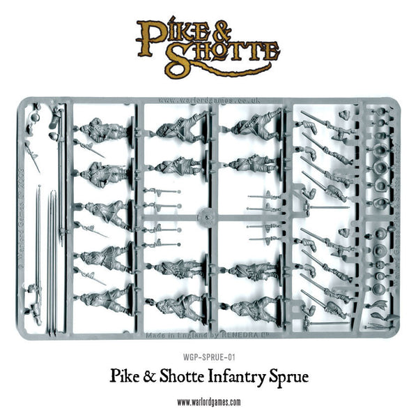 Pike & Shotte Infantry Sprue