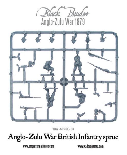 Anglo-Zulu War British Infantry sprue