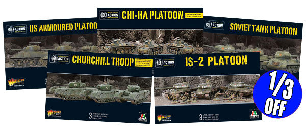 Selected Tank Platoons 33% off