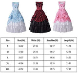 BPURB Womens Victorian Costume Renaissance Gothic Gown Ball Gown with Petticoat