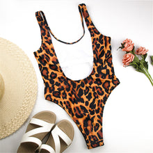Load image into Gallery viewer, Leopard U back One Piece Swimsuit - V1754