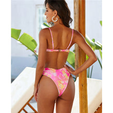 Load image into Gallery viewer, 2 Colours V-bar Underwired High Waist Bikini Set - V1761