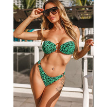 Load image into Gallery viewer, 3 Colours Wrinkled Brazilian Bikini Set - V1706G