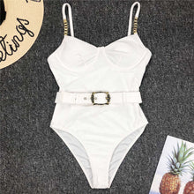 Load image into Gallery viewer, 3 Colours Ribbed One Piece Swimsuit - V1778P