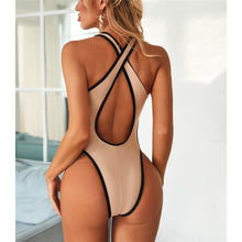 Load image into Gallery viewer, 2 Colours High Leg Cut Out One Piece Swimsuit - V2003