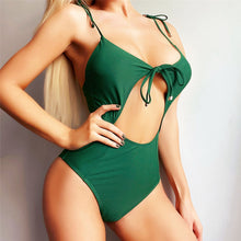Load image into Gallery viewer, 2 Colours Printed One Piece Swimsuit - V1961