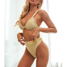 Load image into Gallery viewer, Glitter Sparkling High Waist Bikini Set - V1944