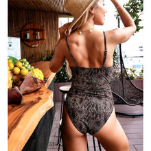 Load image into Gallery viewer, Belted Velour One Piece Swimsuit - V1778