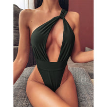 Load image into Gallery viewer, 3 Colours Wrap Around High Leg Cut One Piece Swimsuit - V1832