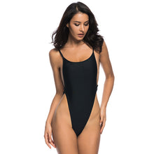Load image into Gallery viewer, 4 Colours High Cut Leg Thong One Piece Swimsuit - V478