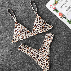 9 Colours Printed V Shape bottom Bikini Set - V1259