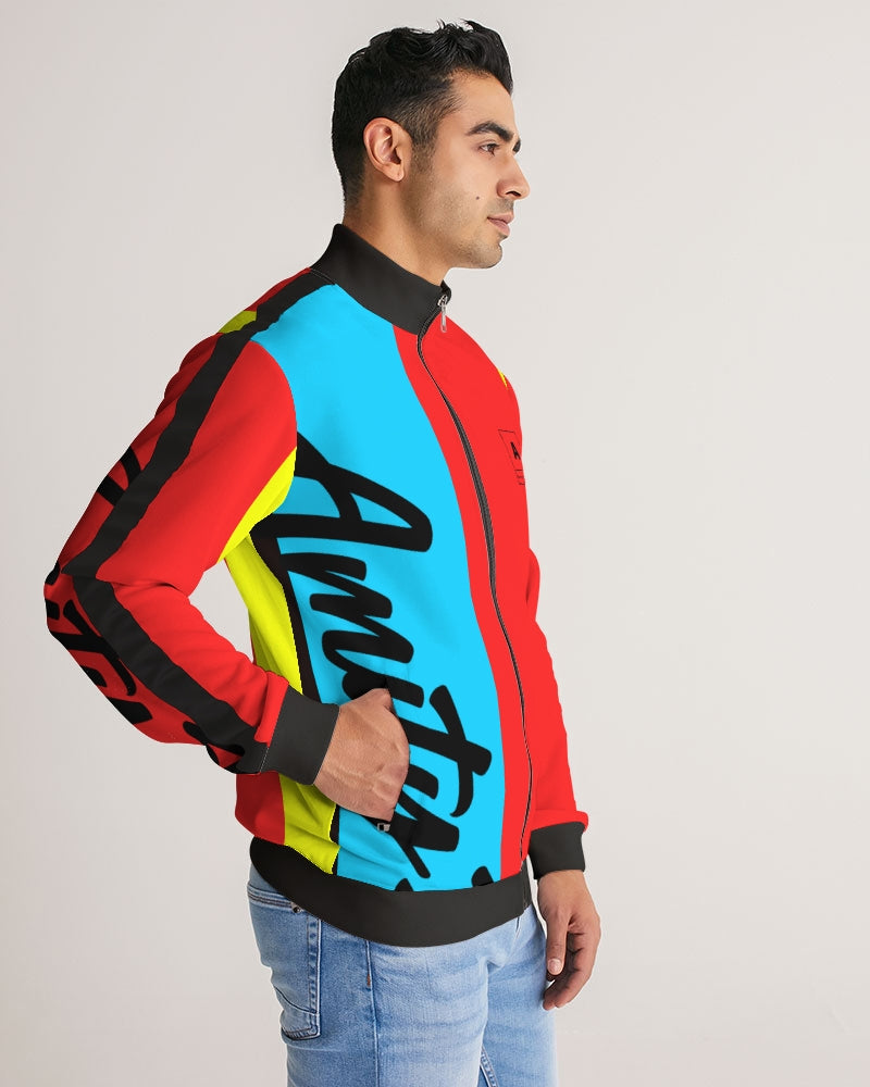 Swavey  Men's Stripe-Sleeve Track Jacket