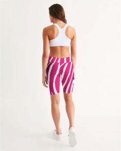 pinkZebra Women's Mid-Rise Bike Shorts