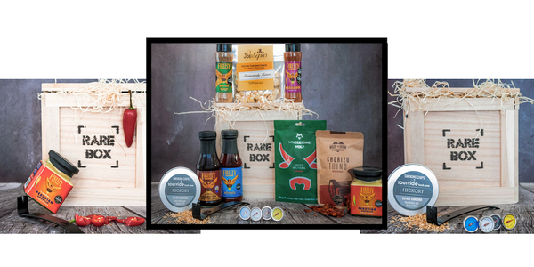 bbq gift box containing snacks and sauces UK