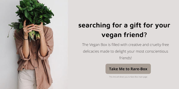 a banner suggesting a gift for your vegan friends