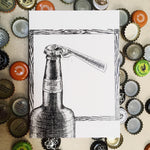 Load image into Gallery viewer, Beer Bottle and Cap Card