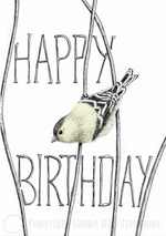 Load image into Gallery viewer, 'Happy Birthday' Little Bird Card