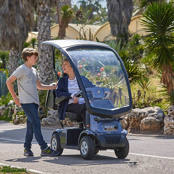 Afiscooter C4 Breeze 4 Wheel Scooter Extended Range & Canopy