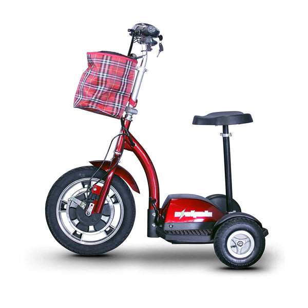 eWheels EW-18 12v 400w Sit or Stand 3-Wheel-Mobility Scooter-eWheels-Red-My Own Wheels
