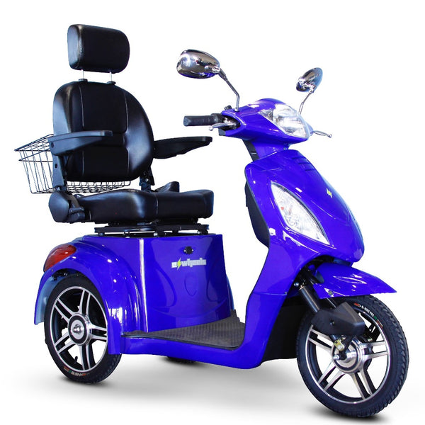 eWheels EW-36 Elite 48v 500w 3-Wheel-Mobility Scooter-eWheels-Blue-My Own Wheels