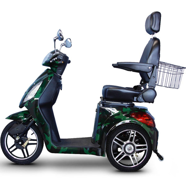 eWheels EW-36 Elite 48v 500w 3-Wheel-Mobility Scooter-eWheels-Green Camo-My Own Wheels