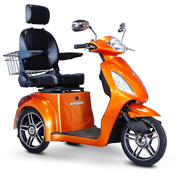 eWheels EW-36 Elite 48v 500w 3-Wheel-Mobility Scooter-eWheels-Orange-My Own Wheels