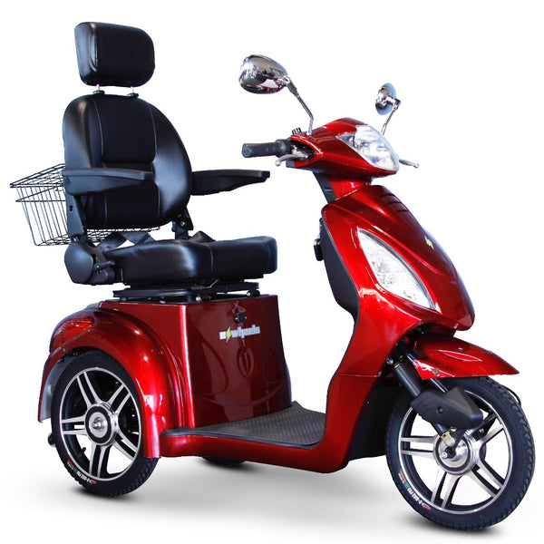 eWheels EW-36 Elite 48v 500w 3-Wheel-Mobility Scooter-eWheels-Red-My Own Wheels
