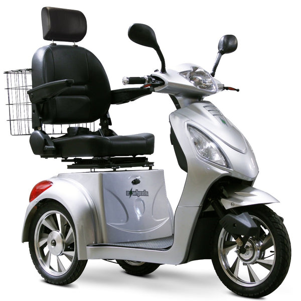 eWheels EW-36 Elite 48v 500w 3-Wheel-Mobility Scooter-eWheels-Silver-My Own Wheels