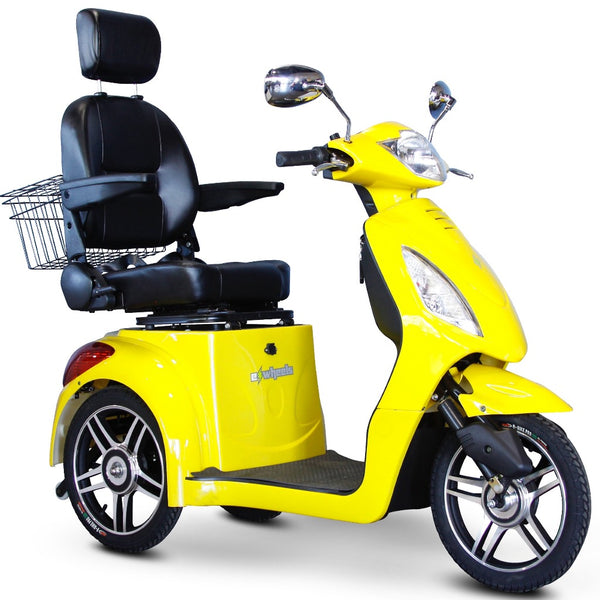 eWheels EW-36 Elite 48v 500w 3-Wheel-Mobility Scooter-eWheels-Yellow-My Own Wheels
