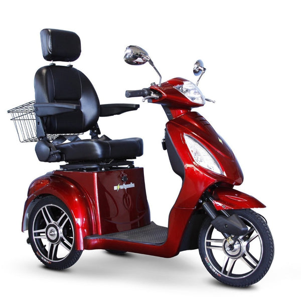 eWheels EW-36 48v 500w 3-Wheel-Mobility Scooter-eWheels-Red-My Own Wheels