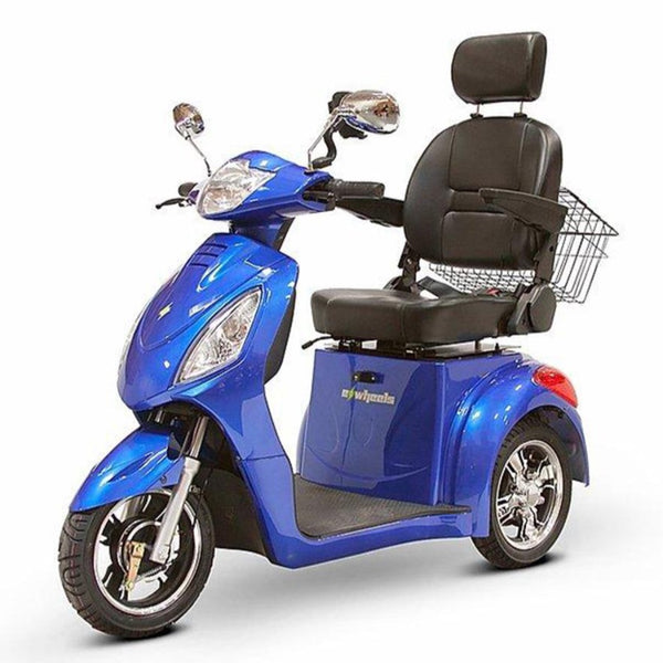 eWheels EW-36 48v 500w 3-Wheel-Mobility Scooter-eWheels-Blue-My Own Wheels