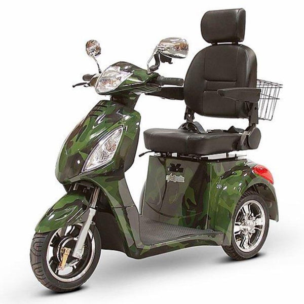 eWheels EW-36 48v 500w 3-Wheel-Mobility Scooter-eWheels-Green Camo-My Own Wheels