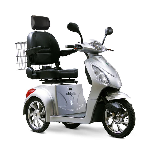 eWheels EW-36 48v 500w 3-Wheel-Mobility Scooter-eWheels-Silver-My Own Wheels