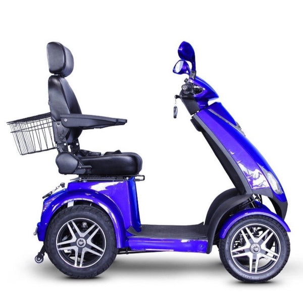 eWheels EW-72 48v 700w High Performance 4-Wheel Electric Scooter - Electric Scooter Blue MyOwnWheels.com