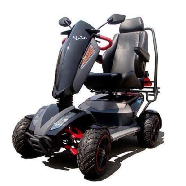 Vita Monster 4 Wheel 900w-Mobility Scooter-EV Rider-Black-My Own Wheels