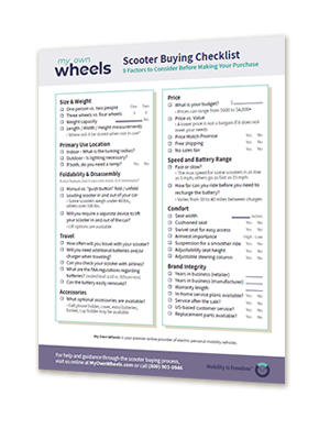 Scooter Buying Checklist